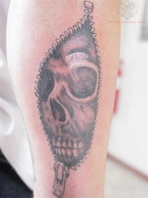 zipper tattoo images designs