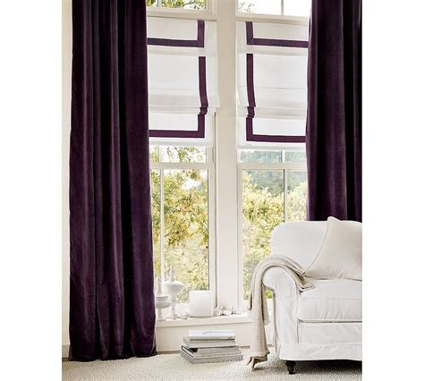 pottery barn drapes accents of plum for zeller interiors