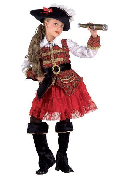 kostuem maedchen piratin piratin kinderkostuem mit hut
