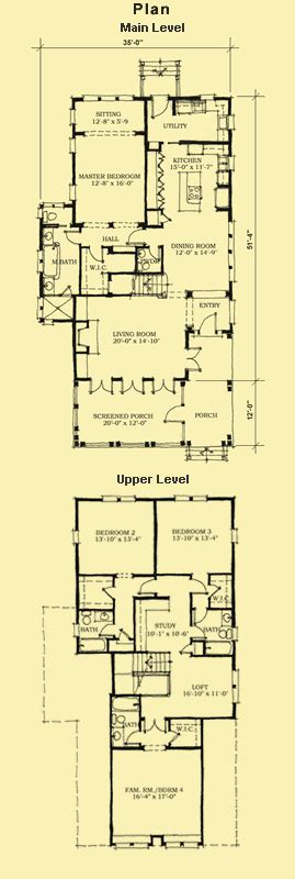 narrow house plans  front garage