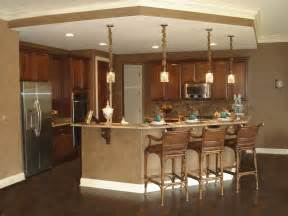 open floor plan kitchen designs pendant lights brown marble top kitchen counter bar island with wooden stools as