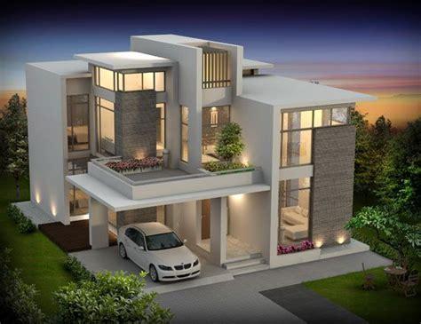 Contemporary Concrete & Glasses House Facade house