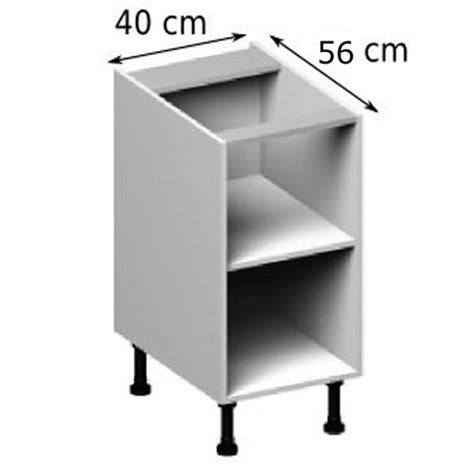 caisson cuisine bas meuble caisson bas largeur 40 vial menuiserie cuisine