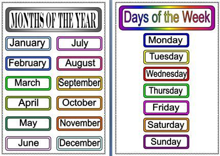 Months Of The Year Printables | ... com home printable ...
