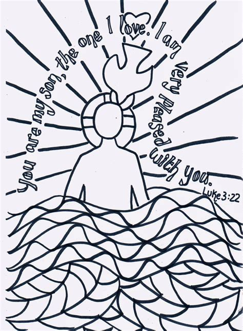 baptism coloring pages creative children s ministry reflective colouring