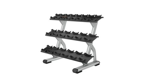 discovery series  tier  pair dumbbell rack dbr precor