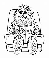 Popcorn Coloring Pages Sheet Box Clipart Drawing Boy Printable Colouring Template Clip Library Az Books Bag Kernel Snack Snacks Comments sketch template