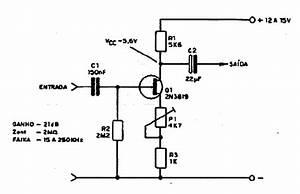 Diagramas De Electronica  Circuito Amplificador Con Fet