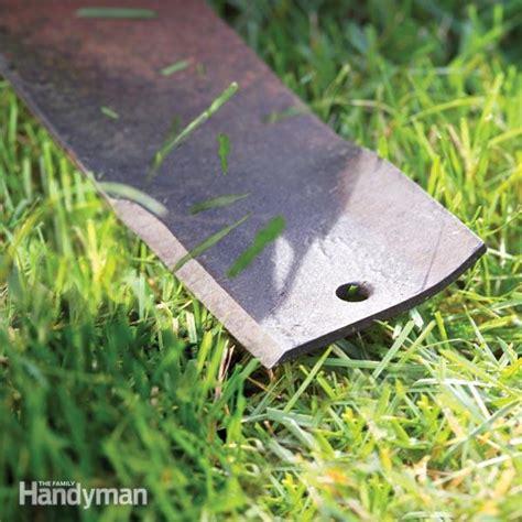 Lawn Mower Blade Sharpening  The Family Handyman