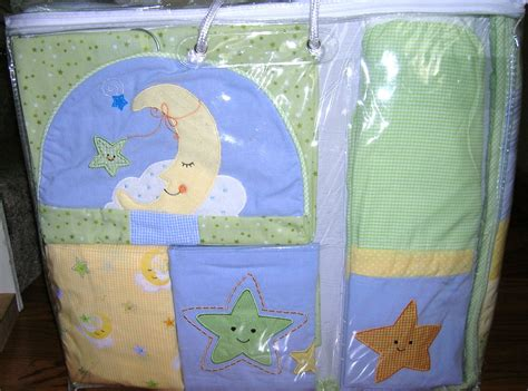 lambs and ivy l lambs and ivy goodnight star moon crib bedding 6 piece set