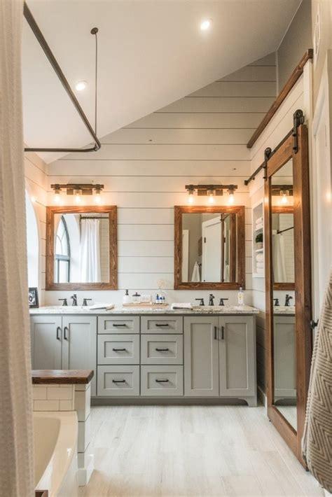 modern farmhouse bathroom   irwin construction