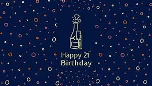 Create Custom 21st Birthday Cards  U0026 Invitations In Seconds