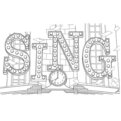 Kleurplaat Sing by Sing Coloring Pages Best Coloring Pages For