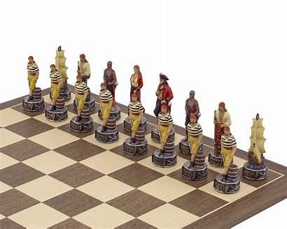 Chess Navy Themed Pirates Italfama Painted Hand