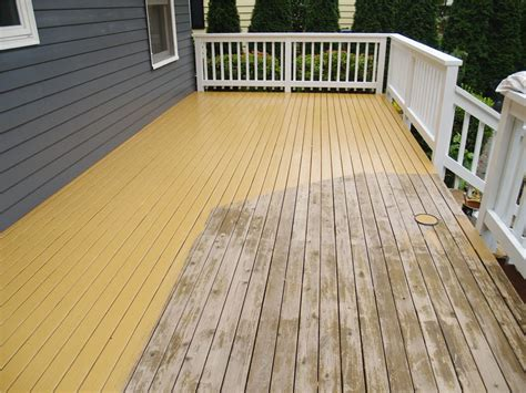 deck  stained  sealed