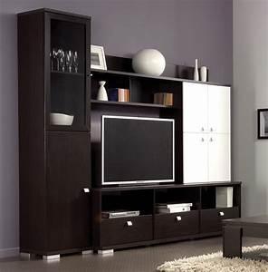 Meuble tv mural sans portes aragon living meuble de for Deco cuisine pour meuble tv wenge