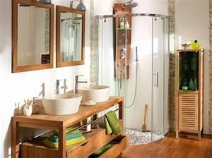 Alinea Meuble Salle De Bain : meuble salle de bain bois alinea peinture faience salle ~ Dailycaller-alerts.com Idées de Décoration