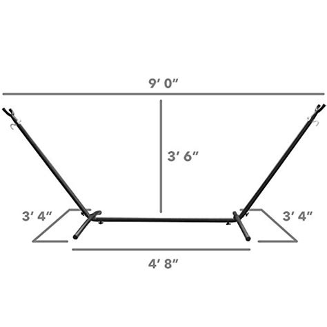 Standard Hammock Dimensions by Driftsun Space Saving 9 8 Ft Steel Hammock Stand With Two