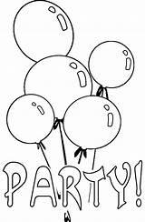 Coloring Birthday Balloon Party Balloons Pages Happy Para Colorear Drawing Printable Globos Ballonger Dibujos Malarbilder Sky sketch template