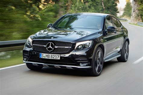 43, 63, and 63 s, which share the same swoopy sheetmetal and offer power levels that start at a lot and escalate to seriously? all. Cut and paste: Mercedes-AMG GLC 43 4Matic Coupe unveiled by CAR Magazine