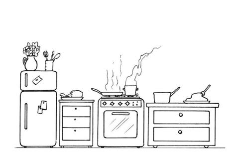 Free Kitchen Coloring Pages