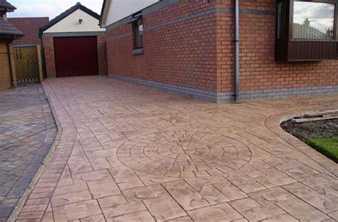 creative kerbs and concrete patterned concrete driveways