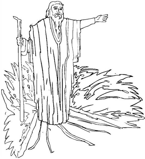 drawing prophet moses coloring page color luna