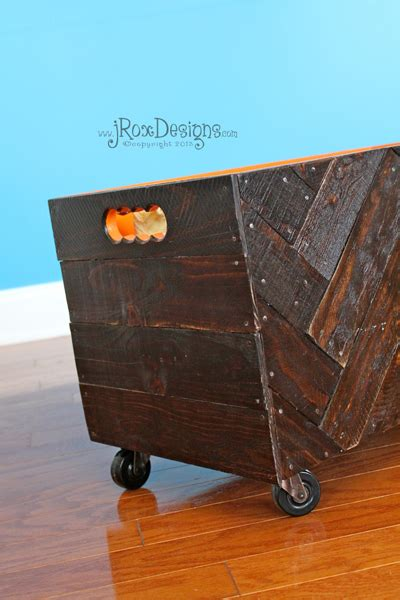 Diy Wooden Herringbone Toy Box Jroxdesigns