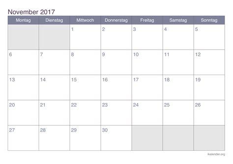 kalender november zum ausdrucken ikalenderorg