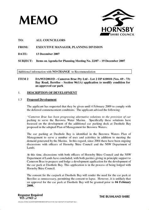 Memorandum Template 10 Executive Memo Format Memo Formats