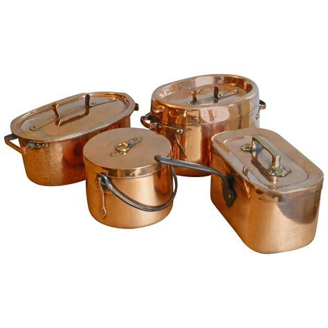 copper pots and pans set magnificent set of re tinned copper pans copper pots at 1stdibs