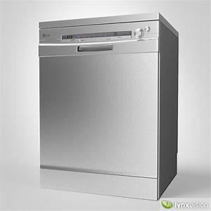 Lg Dishwasher 3d Model  Max  Obj  Fbx