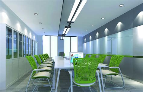 green chair for modern conference room 3d house