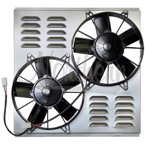 dual electric fans with shroud northern factory dual 10 quot electric fan shroud 18 3 8