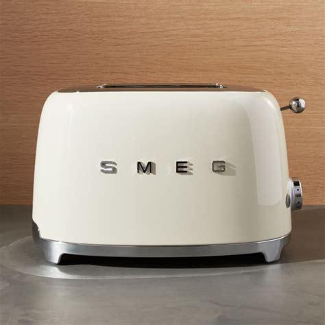 smeg cream  slice retro toaster reviews crate  barrel