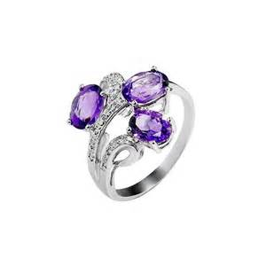 amethyst wedding ring 3 1 carat amethyst engagement ring for jewelocean