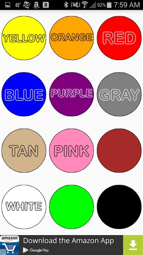 basic colors colors tap and learn android apps on play