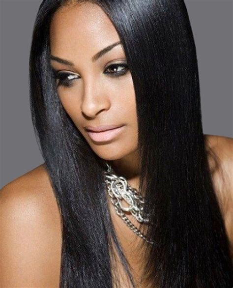 remy sew in weave hair extensions yaki relaxed