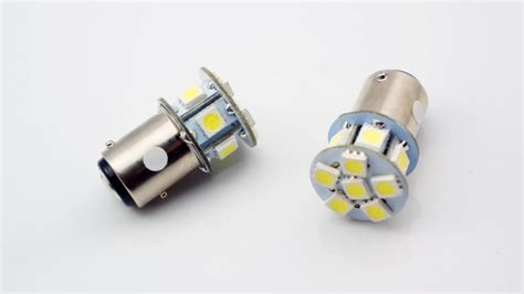 2x 6v 1157 Bay15d 1154 12 Smd Led White Car Bulb Light
