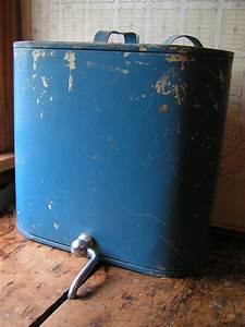 Vintage, Large, Hanging, Water, Jug, In, Periwinkle, Blue, By, Copperandtin, 85, 00