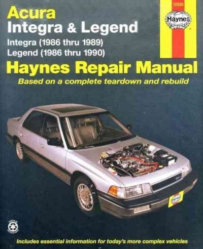 download car manuals 1989 acura legend head up display acura integra legend 1986 1990 haynes service repair manual sagin workshop car manuals repair