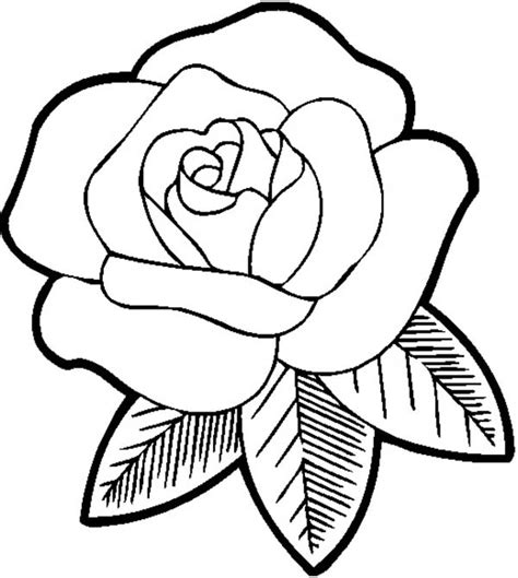 Printable roses and heart color by number coloring page. Big Beautiful Rose Coloring Page - Download & Print Online ...