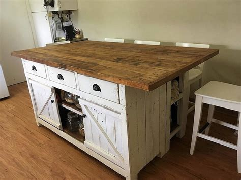 kitchen island projects pallet kitchen island table or cabinet with sliding doors 1988