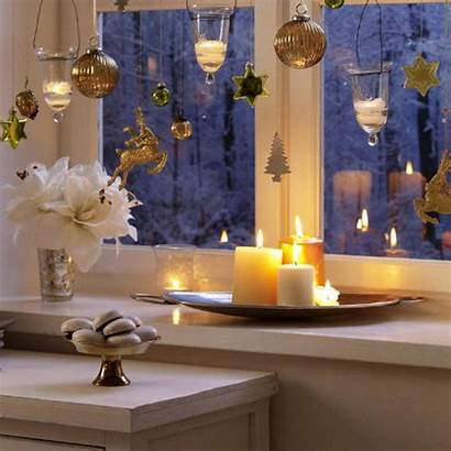 Christmas Decorating Winter Golden Holiday Window Decorations