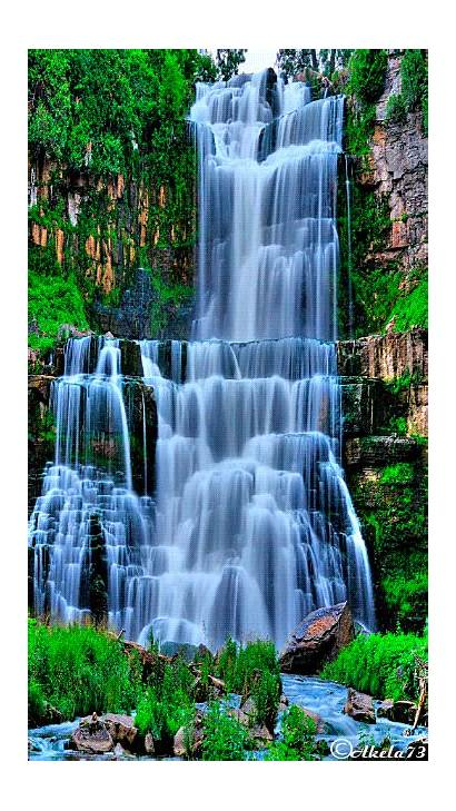 Animated Waterfall Desktop Screen Phone Wide