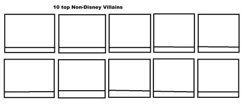Top 10 Non-disney Villains Meme Blank By Hodini012 On