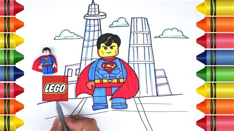 draw lego superman justice league learn drawing
