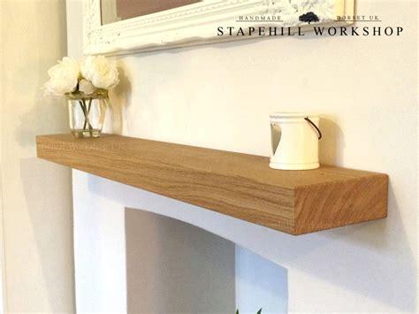 floating mantel shelf solid oak floating shelf mantle beam fireplace mantel