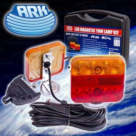 portable trailer lights led portable trailer light kit towing magnetic stop