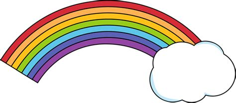 Rain Clipart Rainbow Cloud
